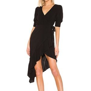 NEW Revolve Majorelle Delilah black midi dress XXS